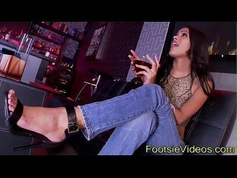 Footjob teenager banged
