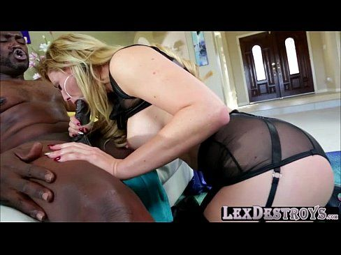 Blonde and sexy Cherie DeVille gets her pussy destroyed by Lexington
