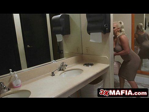 Backstabbing Girlfriend Dani Daniels Fucks a Waiter in a Public Bathroom