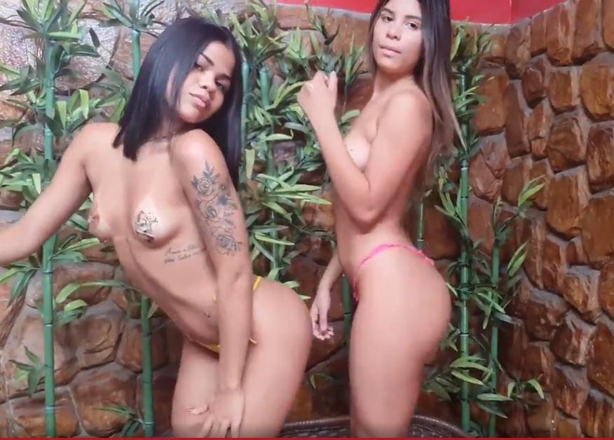 Tati Maia e amiga mostrando os peitinhos PORNO 2020